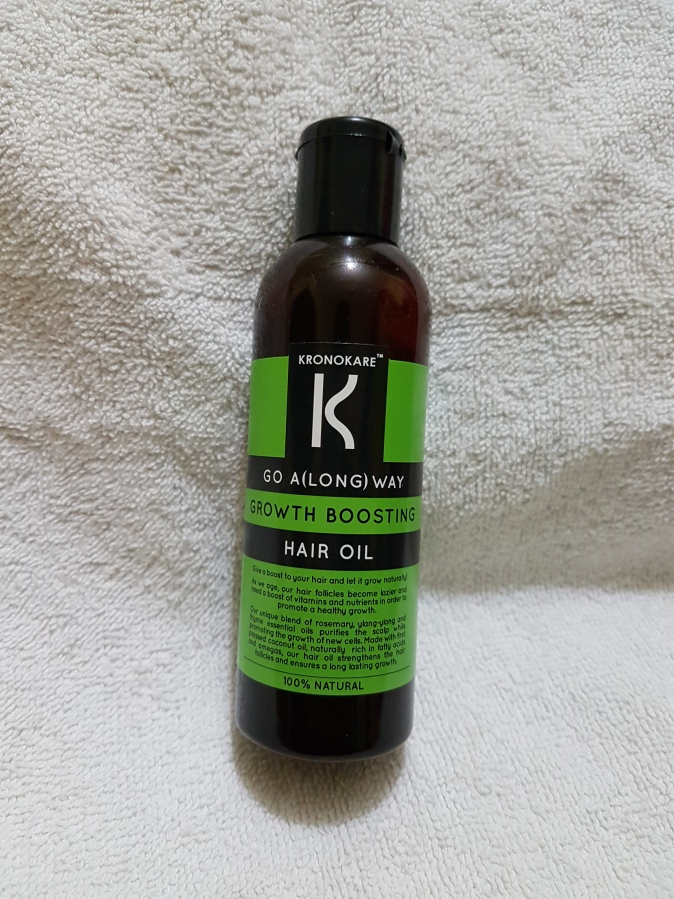 Brand & Product Review: Kronokare Go A(Long) Way Growth Boosting Hair oil