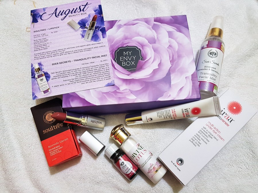 My Envy August Beauty Box