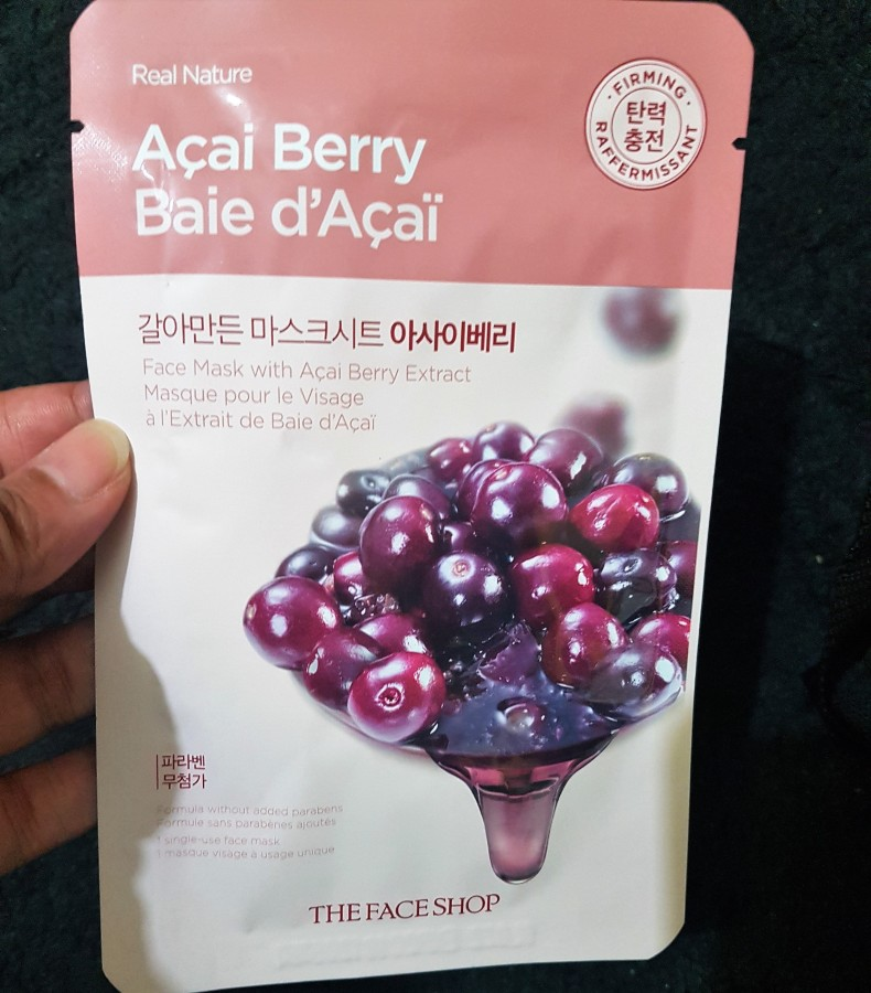 Product Review: The Face Shop Açia Berry Real Nature Face Mask
