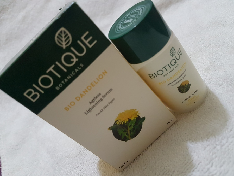 Product Review: Biotique Advanced Ayurveda Bio Dandelion Ageless Lightening Serum