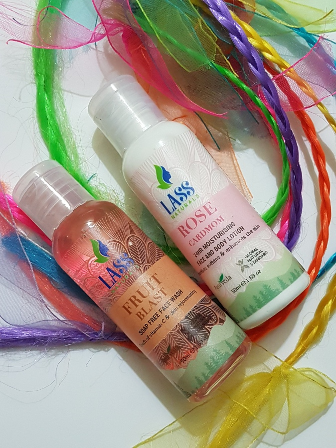Product Review: Lass Naturals – Rose Cardamom 24hr Moisturizing Face & Body Lotion & Fruit Blast Soap Free Face Wash