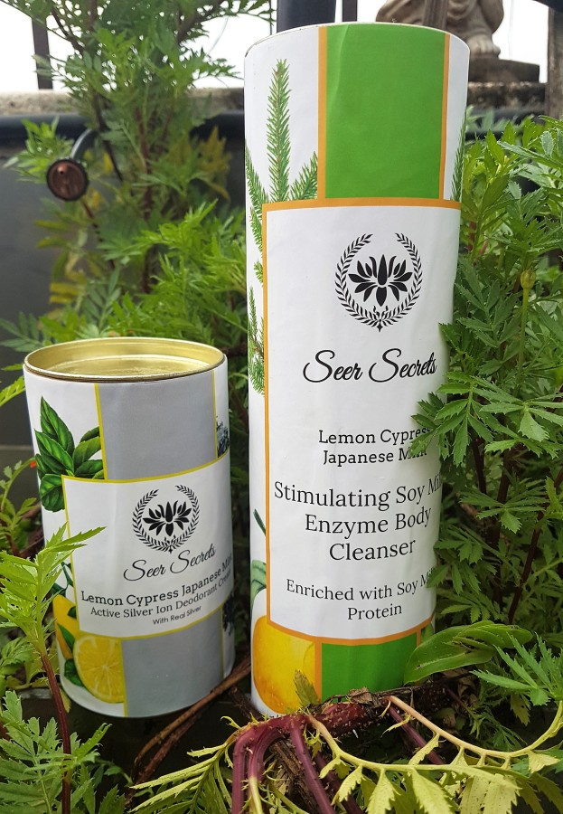 Product Review: Seer Secrets Lemon Cypress Japanese Mint Active Silver Ion Deodorant Cream & Stimulating Soy Milk Enzyme Body Cleanser