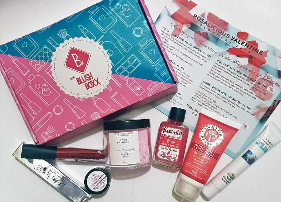 Subscription Review: Rosalicious Valentine February 2018 The Blush Boxx