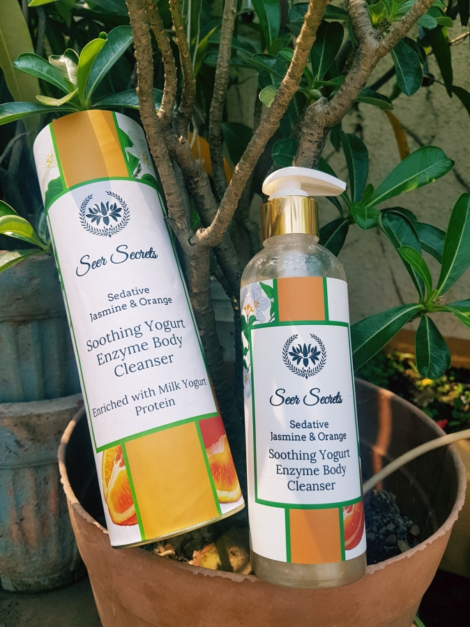 Product Review: Seer Secrets Sedative Jasmine & Orange Soothing Yoghurt Enzyme Body Cleanser