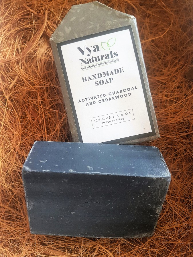 Product Review: Vya Naturals Handmade Activated Charcoal and Cedarwood Soap